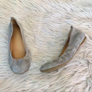 J. Crew Factory | Anya Suede Ballerina Flats Gray